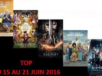 TOP 15 AU 21 JUIN 2016
