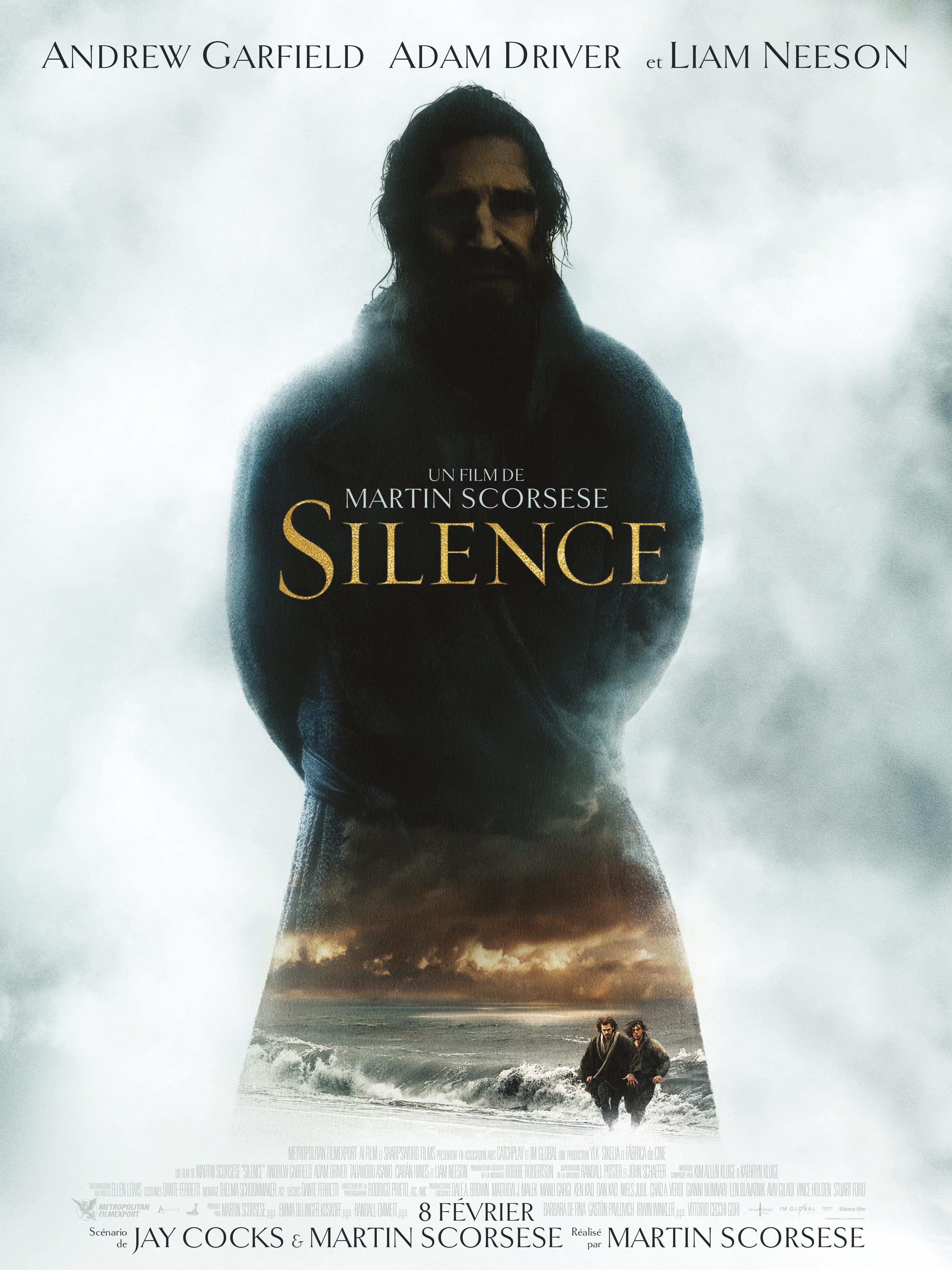 """Résultat de recherche d'images pour """"""""Silence"""" de Martin Scorsese affiche"""""""